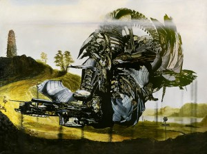 The Capital Drone (Daylight), Oil on canvas, 200 x 250cm