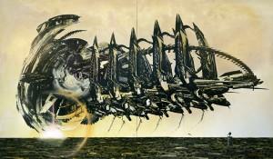 The Protarch (Dawn), Oil on canvas, 190 x 320 cm